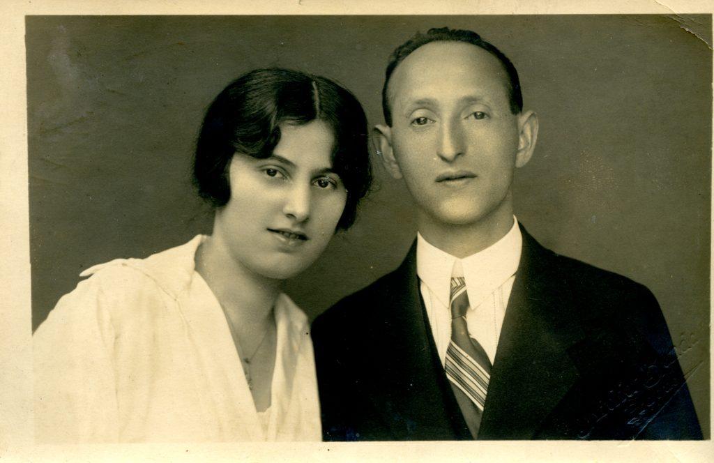 Karel and Hermina Munk Wedding Portrait