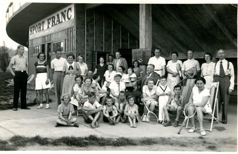 Tennis club in Pardubice before German occupation