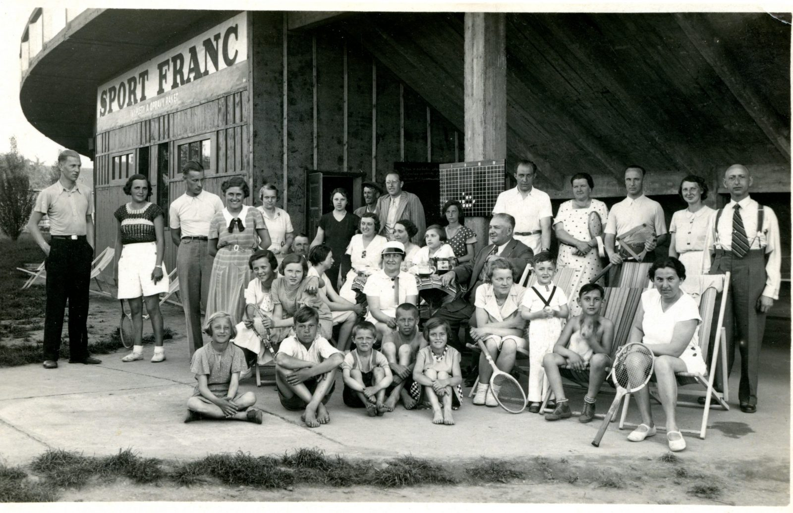 Tennis club in Pardubice before German occupation